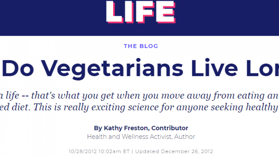 Why Do Vegetarians Live Longer.